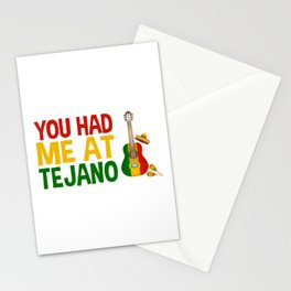 You Had Me At Tejano for Mexican Music Lover Stationery Cards