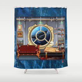DW-032 Nautilus Dreams-First State Shower Curtain