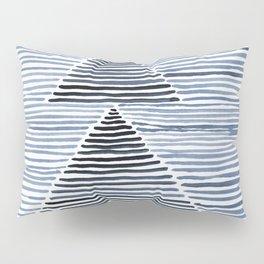 Rosario Watercolor Print in Blue Pillow Sham