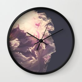 Musing Peony Wall Clock