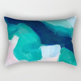 Lakeside abstract Rectangular Pillow