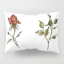 Loose Watercolor Rosebuds Pillow Sham