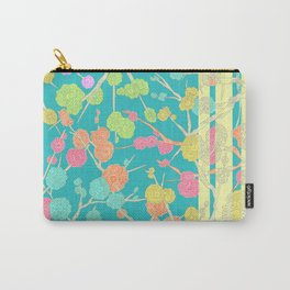 Bright Cherry Blossom Stripe Carry-All Pouch