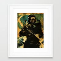master chief Framed Art Prints featuring Gamer print by Fan Prints