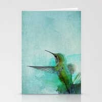 hummingbird Stationery Cards featuring Hummingbird by Marvelis