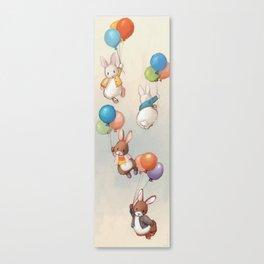 Flying Bunnies Canvas Print