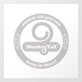 Monkey Tail Gear Logo - 002 Grey Art Print