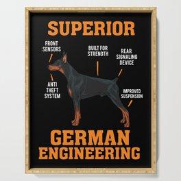 Cool Dobermans Gift: Superior German Engineering I Dog Serving Tray