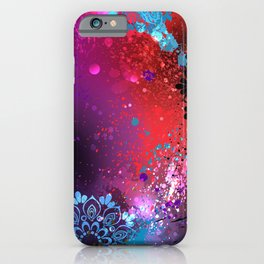Purple Background Holi iPhone Case
