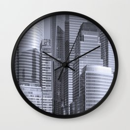 """Urban Angles #1 in Blue"" by Murray Bolesta Wall Clock"