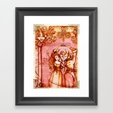 Much Ado About Nothing - Masquerade - Shakespeare Folio Illustration Framed Art Print