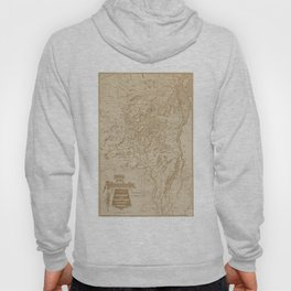Vintage Map of The Adirondack Mountains (1880) Hoody