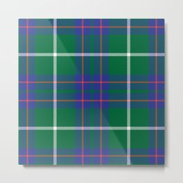 Classic Christmas Blue and Green Plaid Tartan Pattern Metal Print