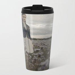 Woman in Field Metal Travel Mug