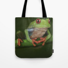 Green Eyed Tree Frog Tote Bag