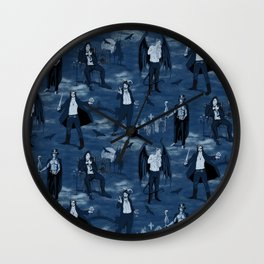 Suave scary sexy Halloween Scoundrels Wall Clock