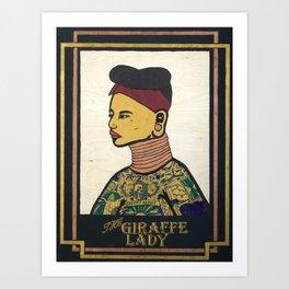 Giraffe Lady Art Print
