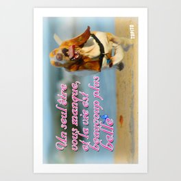 Carte Postale - Un seul être vous manque est la vie est plus belle Art Print