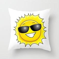 sunglasses on Throw Pillow