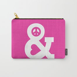 Peace and Love (pink edition) Carry-All Pouch