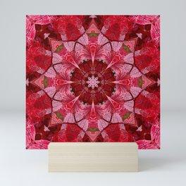 Cranberrybush Viburnum mandala Mini Art Print