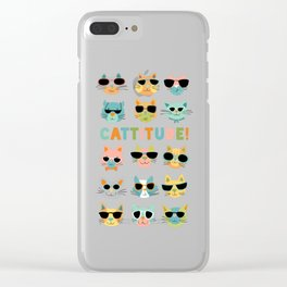 Cattitude Clear iPhone Case