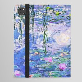 Claude Monet Water Lilies French Impressionist Art iPad Folio Case