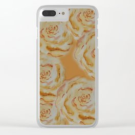 Light Rose Pattern Clear iPhone Case