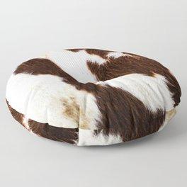 Cowhide Brown Spots Floor Pillow
