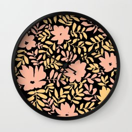 Flower Chains (Multi) Wall Clock