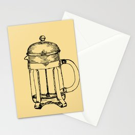 French Press Stationery Cards