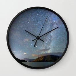 New Zealand Southern Hemisphere Skies Over Lake Wakatipu Wall Clock