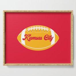 Football Kansas City Serving Tray