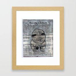Unusual Fellow Framed Art Print