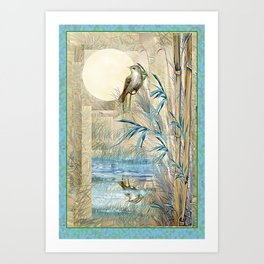 Bamboo Moon with One Art Print