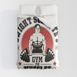 Schrute's Gym For Muscles Comforters