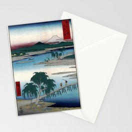 Hiroshige - 36 Views of Mount Fuji (1858) - 13: The Tama River in Musashi Province Stationery Cards