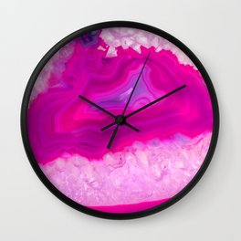 Pink ectoplasm agate Wall Clock