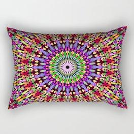 Petal Burst Mandala Rectangular Pillow