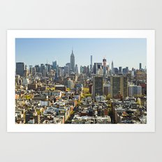 New York City from Tribeca. Art Print
