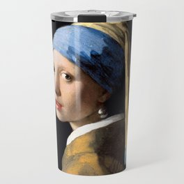 Girl with a Pearl Earring - Jonah Vermeer Travel Mug