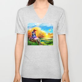 Nausicaa of the Valley of the Wind Unisex V-Neck