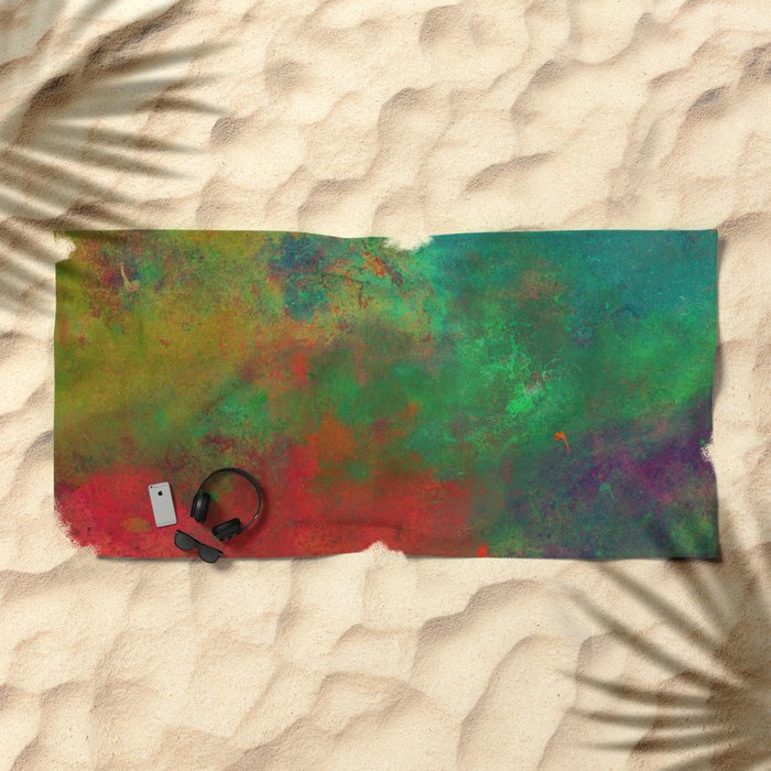 Lose Yourself In Colour (Abstract, textured painting) Beach Towel