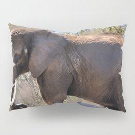 An African Elephant Dust Bath - Wildlife Art Pillow Sham