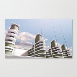 PAN PACIFIC AUDITORIUM COLOR Canvas Print