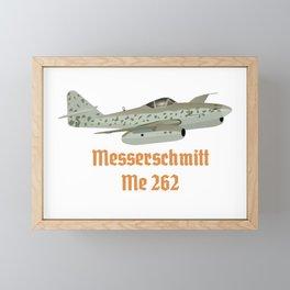Messerschmitt Me 262 German WW2 Airplane Framed Mini Art Print