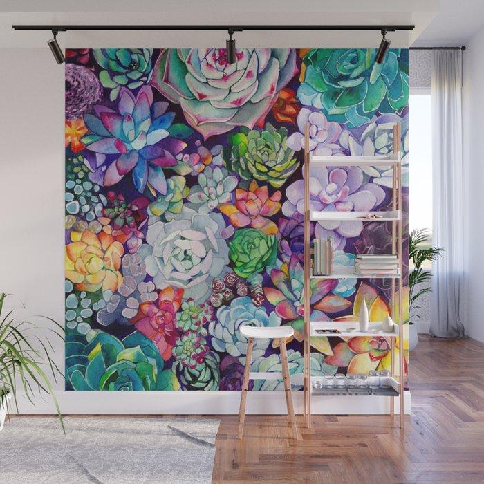 Succulent Garden Wall Mural By Maiautumndesign