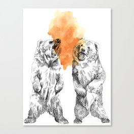 Bear Brain Canvas Print