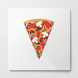PIZZA POWER - VEGO VERSION Metal Print