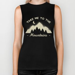 Take me to the Mountains Outdoors Camping Biker Tank